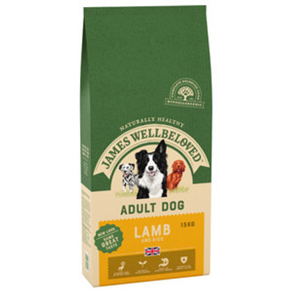 James Wellbeloved Dog Adult Lamb And Rice 15kg