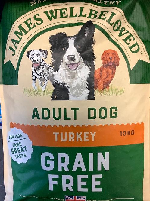 James Wellbeloved Grain Free Adult Dog Turkey & Veg 10kg