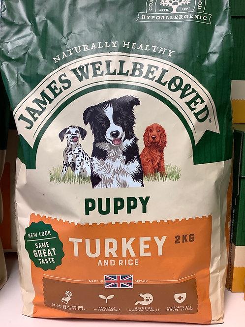 James wellbeloved puppy turkey & rice 1.5 kg