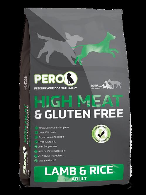 Pero High Meat & Gluten Free - Lamb & Rice 12KG