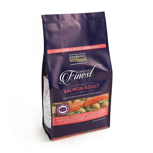 Fish4Dogs Finest Adult Salmon Complete Food Regular Bite 12kg