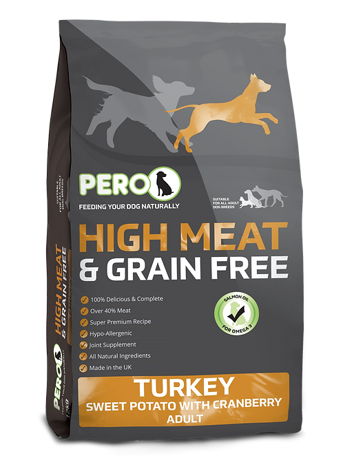 Pero High Meat & Grain Free - Turkey & Sweet Potato with Cranberry 12KG