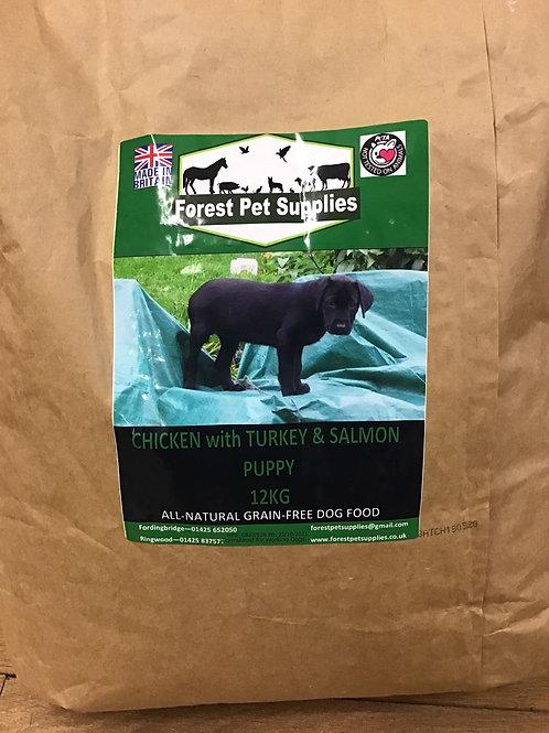Forest Grain Free Chicken with Turkey and Salmon Puppy 12kg