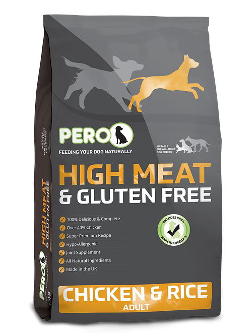 Pero High Meat & Gluten Free - Chicken & Rice 2KG