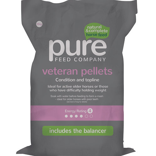 Pure Feed Pure Vetran Pellets Horse Feed - 15kg