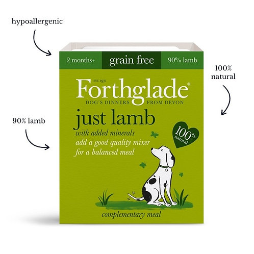 Forthglade just lamb dog food (395g) (Box of 18)