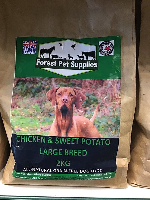 Forest Chicken with Sweet Potato Large Breed 2kg