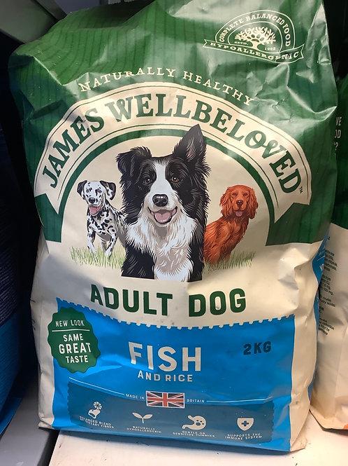 James wellbeloved fish &rice 2kg