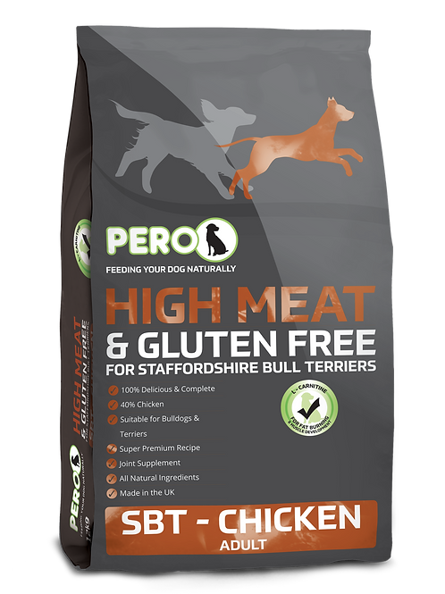 Pero High Meat & Gluten Free for Staffordshire Bull Terriers - Chicken 12KG