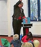 Top Children's Birthday Party Entertainer  Carl John the Magic Man Cardiff South wales and kid's magician, vale of Glamorgan Party entertainment, comedy magic balloon modelling puppets circus workshops party games and party games puppet shows.