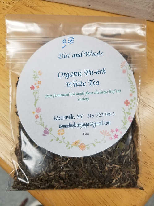 Pu-erh White Tea (Organic)