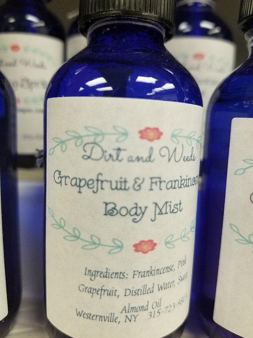 Grapefruit & Frankincense Body Mist