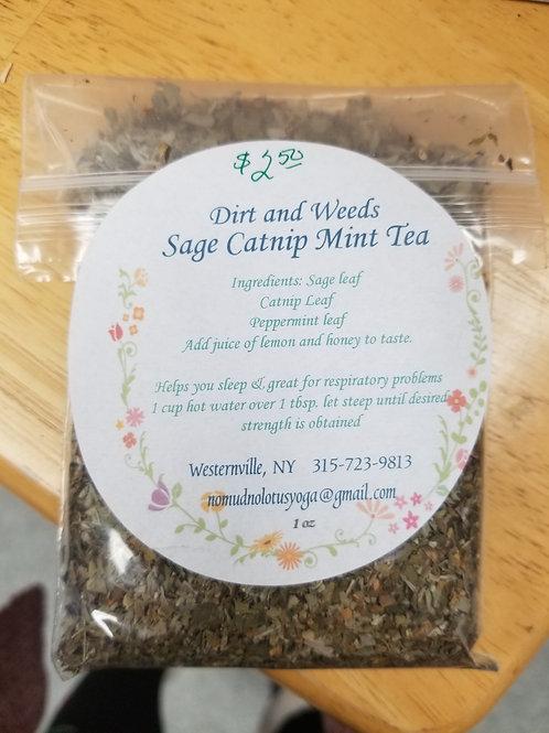 Sage-Catnip-Mint Tea