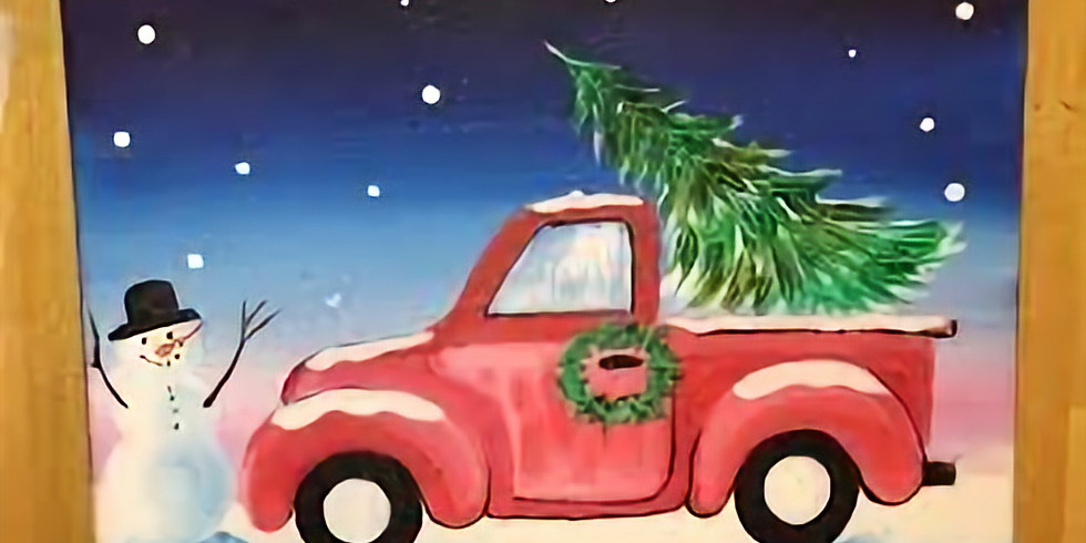 Paint, Stretch & Sip Christmas Tree Truck