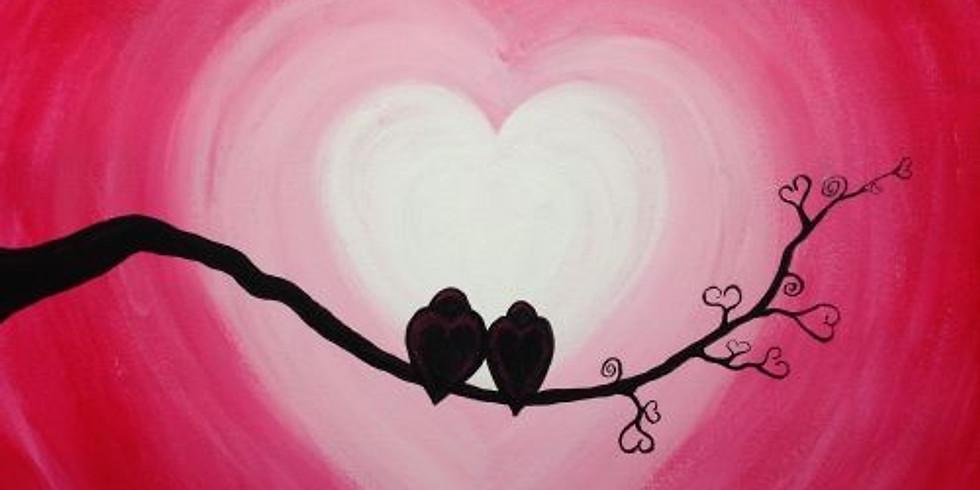 Paint, Stretch & Sip Love Birds