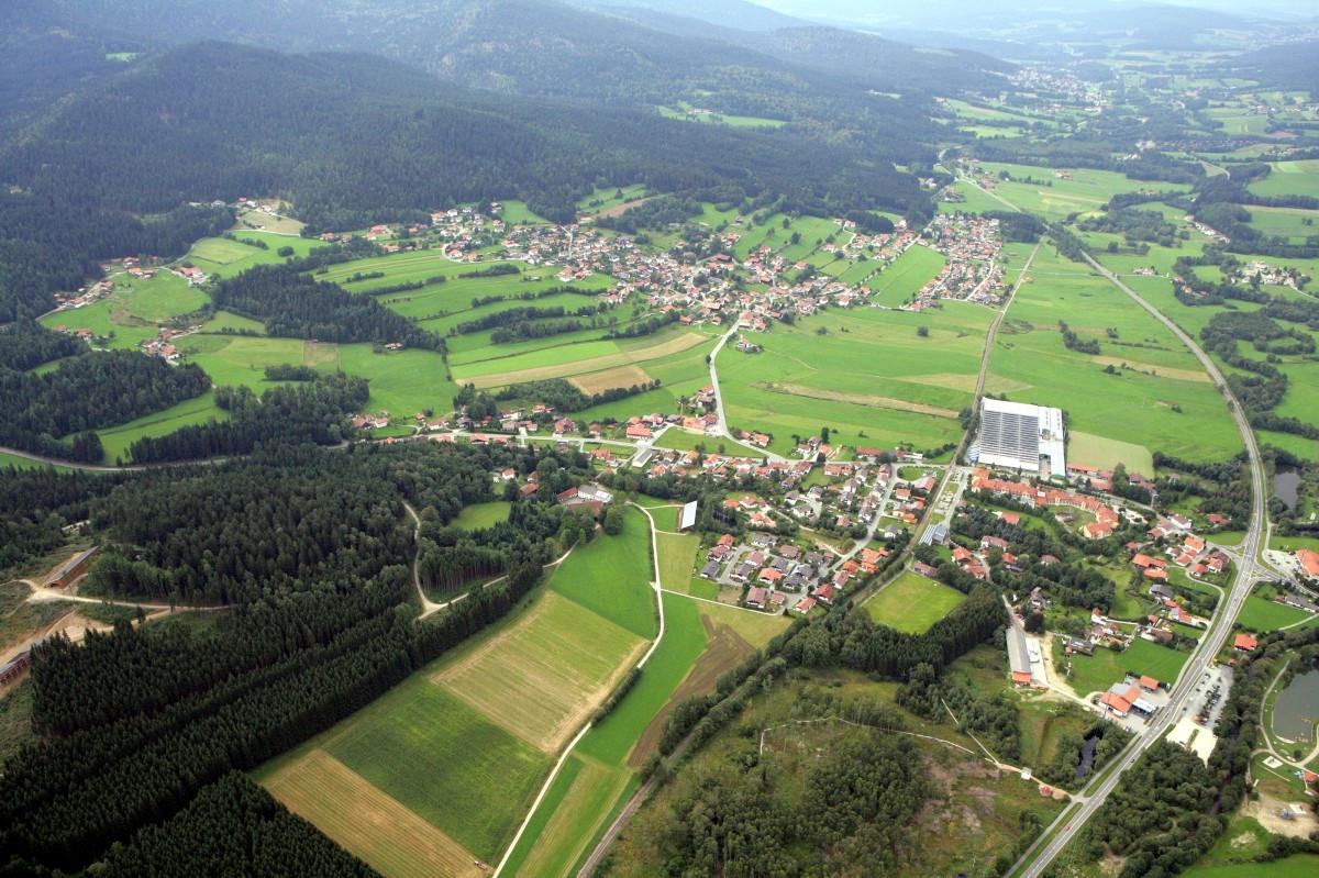 Luftaufnahme Gemeinde Arrach