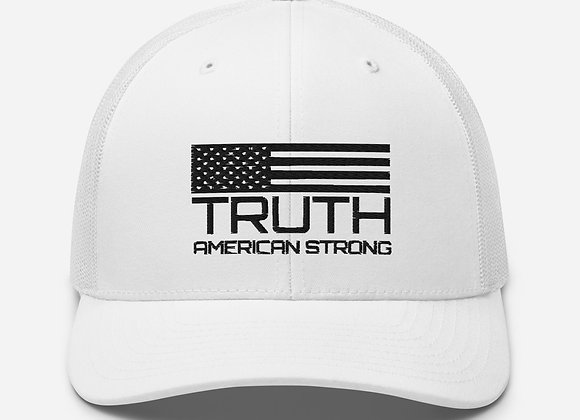 TRUTH Hat Black Embroidery