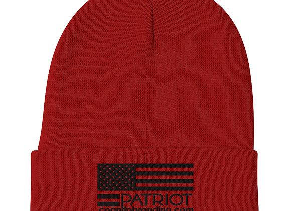 Patriot Beanie (Black Embroidery)