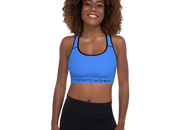 Blue /Blk Padded Sports Top