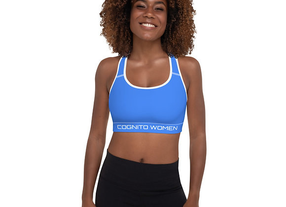 Blue Padded Sports Top