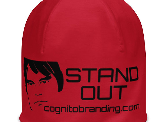 STAND OUT All Over Beanie Red