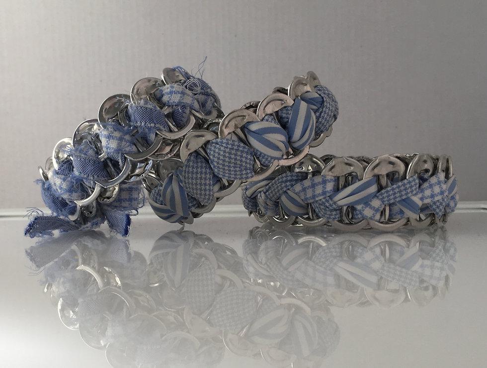 handmade bracelets of used materials
