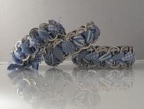 sustainable blue white bracelets
