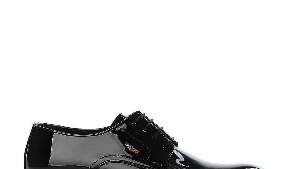 MRT 182-09 Chaussures Classiques Homme En Cuir Verni 4 Paires - Noir