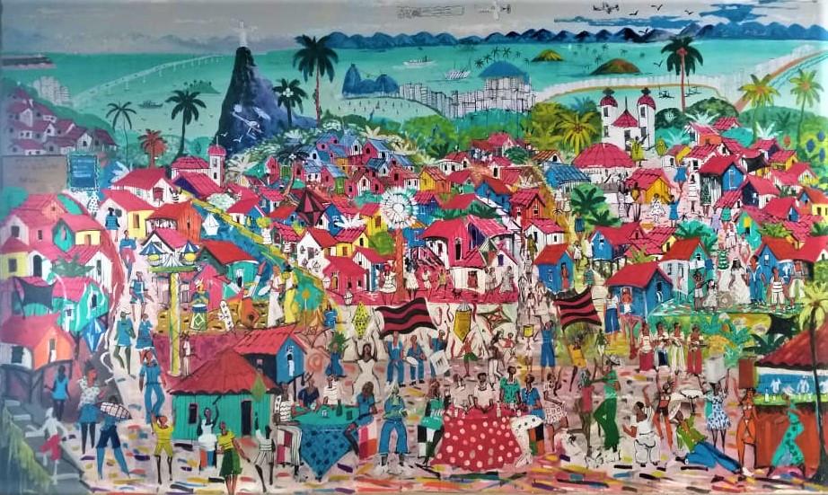 pintura mural Célio Silva