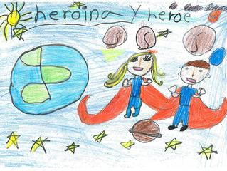 Dibujos ganadores de la Clase de lo Héroes