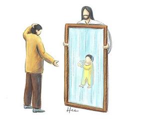거울 좀 보고 삽시다!