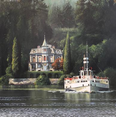 Tour du Lac  (lago maggiore) 100x100cm