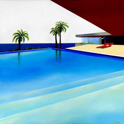Villa Californie 102x102cm