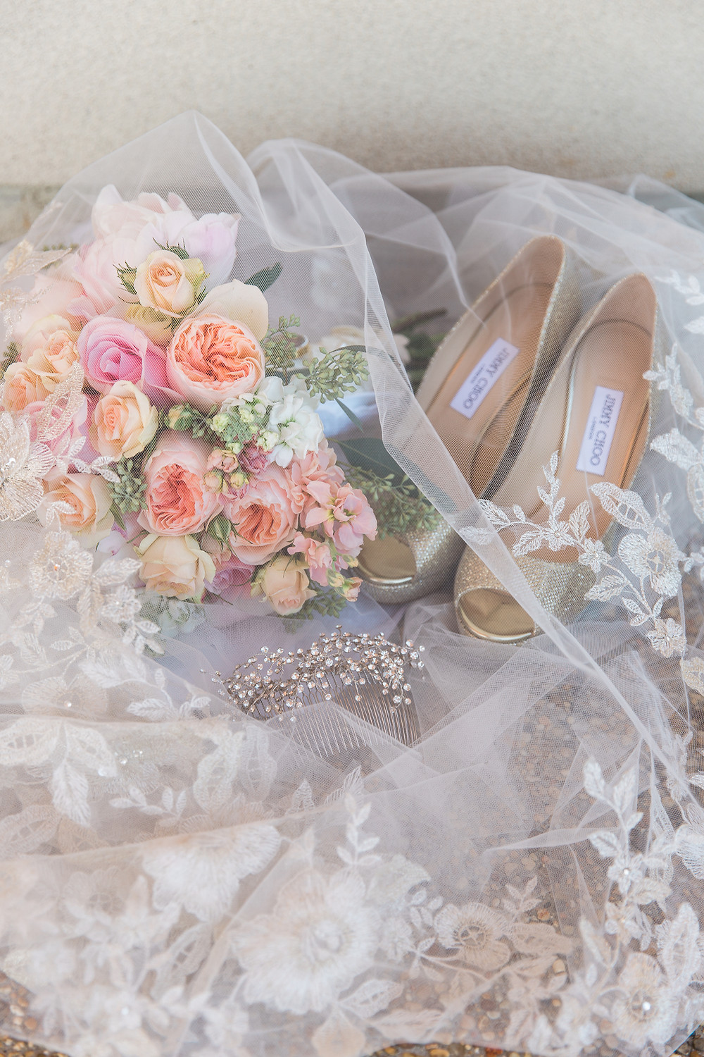 Lauren & Stanley | Laurel, Mississippi Wedding | The Gables | Lindsay Vallas Photography | Lovegood Wedding & Event Rentals | Jimmy Choo Bridal Shoes