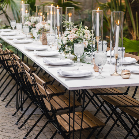 Garden Style Wedding at Pharmacy Museum in New Orleans w. Lovegood Wedding & Event Rentals