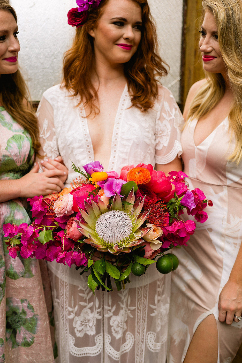 Tropical Bridal Brunch at Race & Religious | Sarah Becker Photography, Antigue Florals, Logan Doerries Designs & Lovegood Wedding & Event Rentals