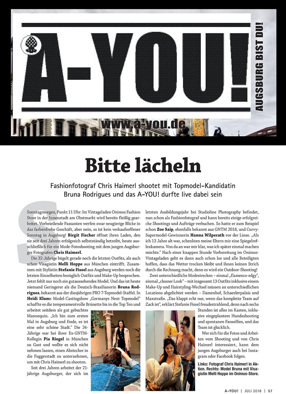 Stefanie Fissel Styling, Augsburgjournal Juli 2018