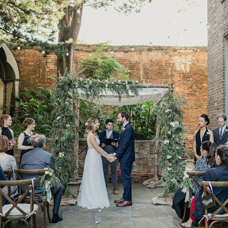 Jamie & Amanda | Monastery Wedding in New Orleans with My House Social and Hannah Pickle Photogr