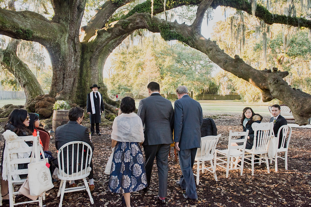 Intimate Wedding + traditional Tea Ceremony in New Orleans at Tree of Life with Heirloom Collective, Leaf + Petal NOLA, and Lovegood Wedding & Event Rentals