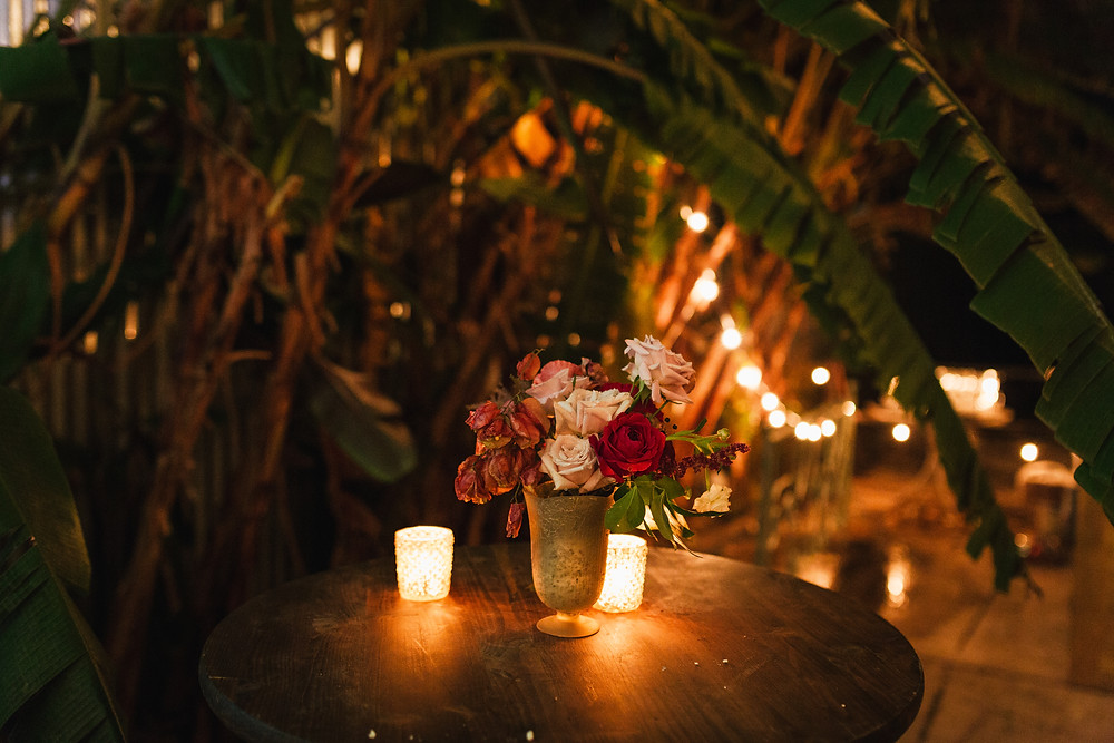 Lovegood Wedding & Event Rentals, New Orleans Vintage Rental Company for Corporate, Parties, and Weddings | Lounge Furniture in NOLA, Specialty Rentals, Decor across the Southeast, Old Warehouse with Bistro Highboys, Florals and Candles