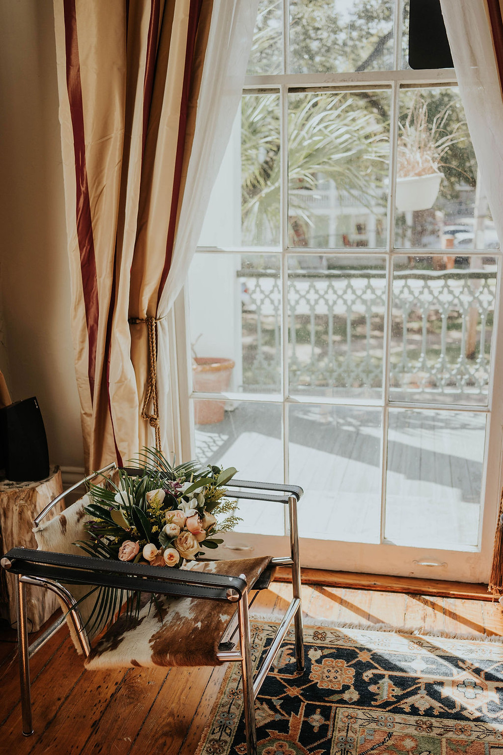 City Park Wedding with Sculpted Films and Lovegood Wedding & Event Rentals in New Orleans, Louisiana with Mismatched Chairs   Vintage Rentals with Rustic, Boho Details