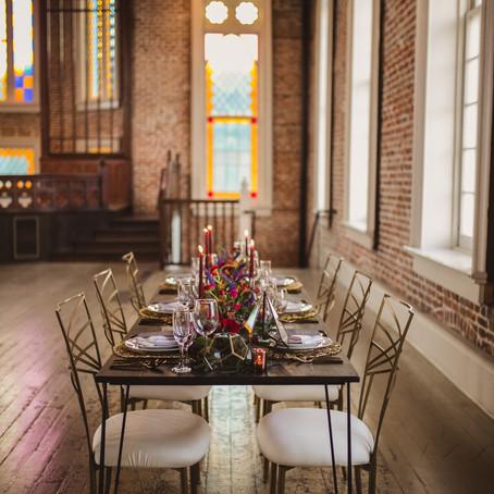A Modern, Geometric & Colorfully Bold Wedding | Felicity Church Inspiration with Amanda Price Ev