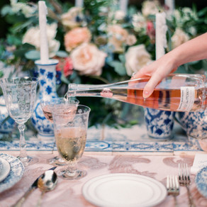 Lush Courtyard Inspiration | Monastery Style Shoot with Catherine Guidry Photography, Blue Gardenia