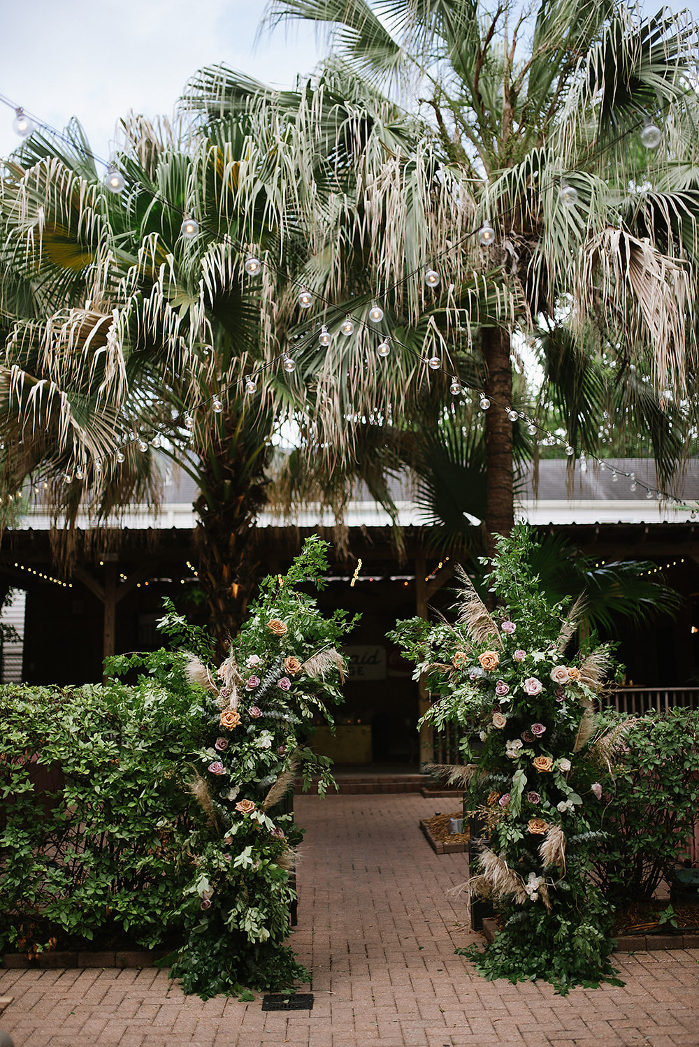 Lindsey & Alex | New Orleans Wedding with Lauren Carroll Photography at Rusty Nail and Lovegood Wedding & Event Rentals / Vintage Rentals, Garden Bisrto Chairs, Ceremony, Reception at Famous New Orleans Bar, Lounge Space, Highboys