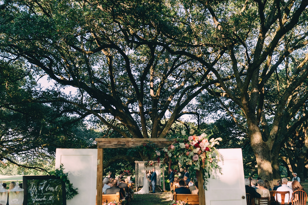 New Orleans Wedding with Dark Roux, Blue Gardenia Events, Kim Starr Wise Floral Events, and Lovegood Wedding & Event Rentals at the Audubon Club House
