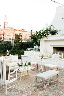Off White Il Mercato Wedding with Lovegood Wedding & Event Rentals - New Orleans Furniture and Decor Company with Lounge Spaces