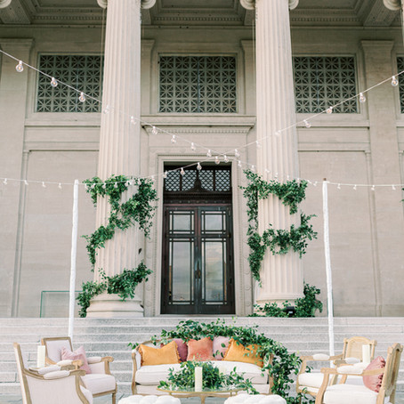 New Orleans Museum of Art Wedding in City Park with Lovegood Wedding & Event Rentals
