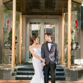 Carolyn + Alex | Windsor Court Wedding with New Orleans Traditions and Vintage Lounge Space from Lov