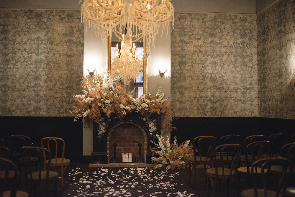 New Orleans Wedding with A Sea of Love Photography, Venus and Co Flowers, and Lovegood Wedding & Event Rentals at the ACE HOTEL NOLA / Vintage, Eclectic Rentals for Weddings and Events