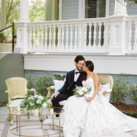 New Orleans Wedding Style in Dreamy Blues and Greens with Tasha Rae Photography, Logan Doerries Desi